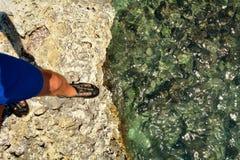 Prestando atenção ao mar Imagem de Stock