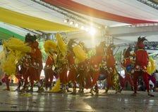 Prestaties bij Kadayawan-Vierkant in Davao tijdens Kadayawan-Festival 2018 stock fotografie
