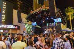 Prestaties op 3de straatstadium, Las Vegas van de binnenstad Stock Foto's