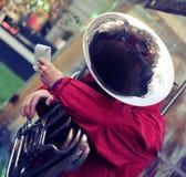 Prestaties van een jazzband Stock Fotografie