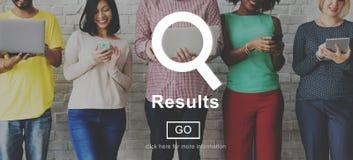 Prestation Conce för bedömning för produktivitet för resultatresultateffekt arkivbilder