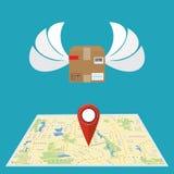 Prestation de service Concept de la livraison gratuite et rapide, embarquant illustration libre de droits