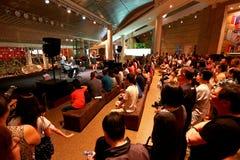 Prestazione al lungomare Singapore Immagini Stock Libere da Diritti