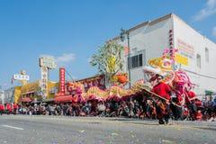 Prestazione cinese del drago Fotografia Stock