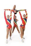 Prestazione dal giovane aerobics dell'atleta Fotografia Stock