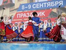 Prestazione dell'insieme di folclore (regione di Saratov Fotografie Stock Libere da Diritti