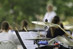 Prestazione dell'orchestra sinfonica Immagini Stock