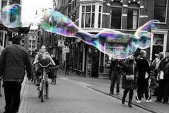 Prestazione della bolla, Amsterdam Fotografie Stock