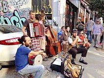 Prestazione della via nel quadrato di Taksim Fotografia Stock