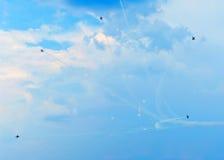 Prestazione dello show aereo Fotografia Stock Libera da Diritti