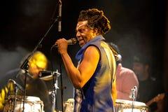 Prestazione di Antibalas (banda del afrobeat) al festival 2014 del suono di Heineken Primavera Fotografia Stock Libera da Diritti