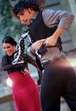 Prestazione di ballo di flamenco di Alba Lucera fotografia stock libera da diritti