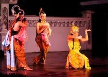 Prestazione di ballo di Ramayana Fotografie Stock