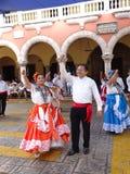Prestazione di ballo in Merida Yucatan Fotografia Stock Libera da Diritti