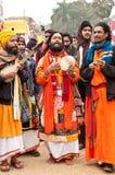 Prestazione di Baul in Poush Mela Fotografia Stock Libera da Diritti