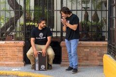 Prestazione di flamenco Fotografie Stock