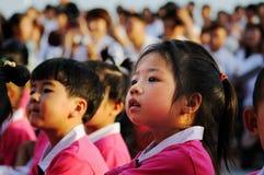 Prestazione di giorno dei bambini Fotografia Stock