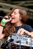 Prestazione di Jessy Lanza (cantautore, produttore e vocalist elettronici canadesi) al festival del sonar Immagine Stock Libera da Diritti