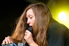 Prestazione di Jessy Lanza (cantautore, produttore e vocalist elettronici canadesi da Hamilton, Ontario) Fotografie Stock