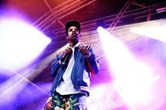 Prestazione di Sweatshirt del conte (rapper e membro americani di Odd Future collettivo hip-hop) Immagine Stock Libera da Diritti
