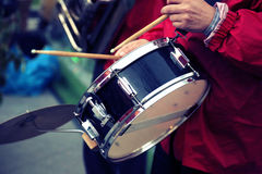 Prestazione di una banda di jazz Fotografia Stock Libera da Diritti
