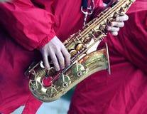 Prestazione di una banda di jazz Immagini Stock