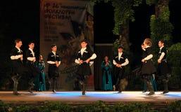 Prestazione georgiana del gruppo di danza popolare Immagine Stock Libera da Diritti