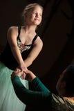 Prestazione graziosa di balletto Fotografie Stock