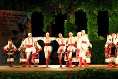Prestazione macedone Varna Bulgaria della fase dell'insieme di ballo Immagini Stock