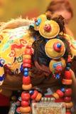 Prestazione nazionale tradizionale cinese del costume Fotografie Stock
