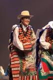 Prestazione nazionale tradizionale cinese del costume Fotografia Stock Libera da Diritti