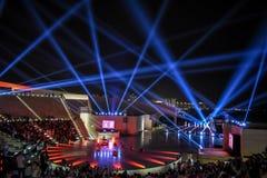 Prestazione russa del coro nel Qatar fotografia stock libera da diritti