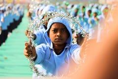 Prestazione su cerimonia di apertura del ventinovesimo festival internazionale 2018 dell'aquilone - l'India Immagini Stock