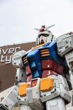 Prestazioni a grandezza naturale di Gundam RX78 alla plaza di DiverCity Tokyo Fotografie Stock