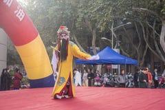 Prestazioni letterarie, opera locale cinese fotografie stock