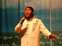 Prestazioni mongole di ballo e di canzone fotografia stock libera da diritti