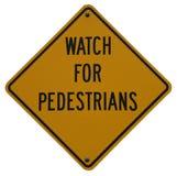 Preste atenção para pedestres imagem de stock