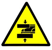 Preste aten??o a sua etapa Perigo, sinal da maquinaria m?vel ilustração do vetor