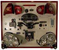 Preste serviços de manutenção à VW de Audi das luzes do carro de treinamento da exposição Foto de Stock Royalty Free
