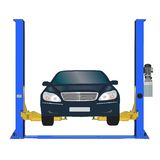 Preste serviços de manutenção ao carro da estação Ilustração Royalty Free