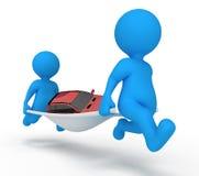 Preste serviços de manutenção ao carro do homem Fotografia de Stock Royalty Free