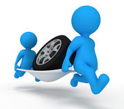Preste serviços de manutenção ao carro do homem Imagens de Stock Royalty Free