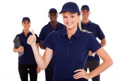 Preste serviços de manutenção ao polegar acima Fotografia de Stock
