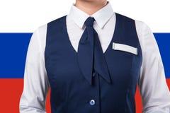 Preste serviços de manutenção ao uniforme da mulher Fotografia de Stock Royalty Free