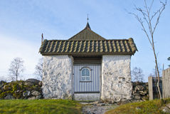 Prestebakke Church. In Enningdalen in Halden municipality is a church from 1793. The structure is timber and has 225 seats, and was financed by the Council man Royalty Free Stock Image