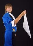 Prestidigitator in tail-coat. Royalty Free Stock Photos