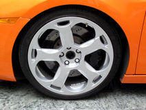 Prestige Alloy Wheel. Wheel and tyre of a prestige sports car Stock Photos