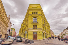 Prestige apartment house on Nikoljskaja street. Stock Image