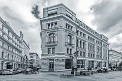 Prestige apartment house on Nikoljskaja street. Royalty Free Stock Photos