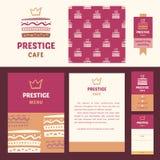 Prestige cafe, elegant style. Royalty Free Stock Image